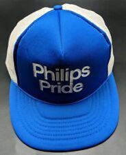 PHILIPS PRIDE trucker style blue / white adjustable cap / hat