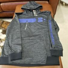 NWT Under Armour COLD GEAR GREY PULLOVER Hoodie Mens Size XL LOOSE