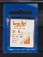 hawid 7037   50 Zuschnitte 24x29 mm glasklar