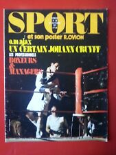 1971 SPORT et son poster n°38 MARSEILLE  AJAX  BOXEURS ET MANAGERS VIGNAL