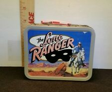 THE LONE RANGER Metal Lunchbox Box Mini Cherrios NICE SHAPE! 2001 Cheerios