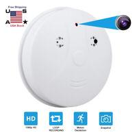 HD1080P SPY Camera Hidden Smoke Detector Motion Detection Nanny Cam DVR US STOCK