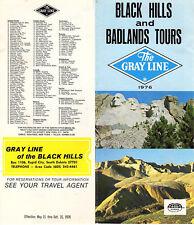 Black Hills & Badlands South Dakota Vintage 1976 Gray Line Sightseeing Brochure