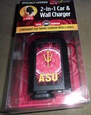US Digital Media ASU Quik Volt 2-in-1 USB 2-Port Car & Wall Charger ~ NEW in Pkg