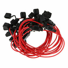 10x Standard Blade Fuse Holder Splash Proof 40A 12 AWG Cable In Line Car Auto R1