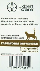 Bayer Expert Care Tapeworm Dewormer for Cats and Kittens