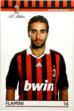 Cartolina Milan Stagione 2009/10 - Mathieu Flamini