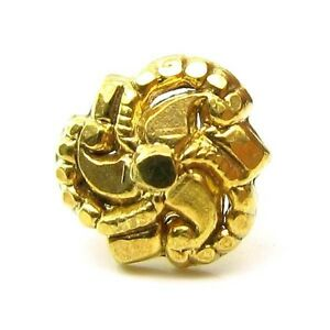 Graceful Body Piercing Nose Stud, Gold Plated Nose Ring Flower Nose Pin