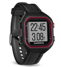 GARMIN Forerunner 25 GPS Sport Running Watch, Large Mens (black/red) NEW