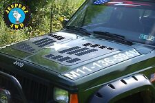 Louvered Hood Panels for Jeep XJ Cherokee, XJ Hood Vents, *MADE IN THE USA!*
