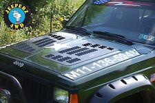 Jeep XJ Cherokee Louvered Hood Panel, XJ Hood Vents, *MADE IN THE USA!*