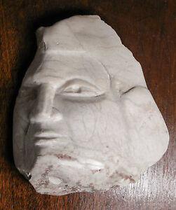 Marble Sculpture by IRENE KOLDORF of Female Head, ORIGINAL, LISTED NJ Artist