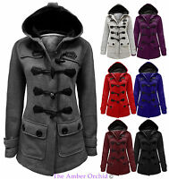 NEW LADIES WOMENS HOOD DUFFLE TRENCH HOODED POCKET COAT JACKET PLUS SIZE 16-20