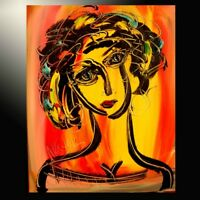 NICE GIRL ABSTRACT  by Mark Kazav  Abstract Modern CANVAS Original  PAINTING