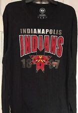'47 Brand Indianapolis Indians Black Long Sleeve T-shirt, Mens XL
