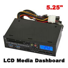 5.25 Inch USB3.0 PCI-E Dashboard LCD Sata 5.0Gb/s Media Audio Card Reader  v#h9
