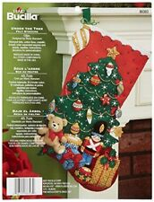 Bucilla 18-Inch Christmas Stocking Felt Applique Kit, 86303 Under The Tree