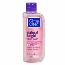Clean & Clear Natural Bright Oil-Free Face Wash with Rose Water and Honey 100ml