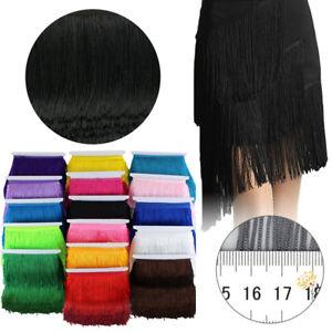 10 Yards 15CM Chainette Long Tassel Fringe Lace Trim Ribbon Sew Latin Dress DIY