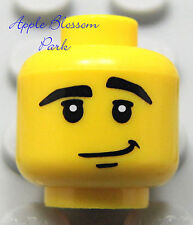 NEW Lego City Police Agents Boy MINIFIG HEAD -Male Grin Smile -Star Wars/Pirates