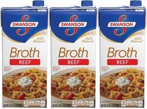 Swanson Beef Broth 3 Carton Pack
