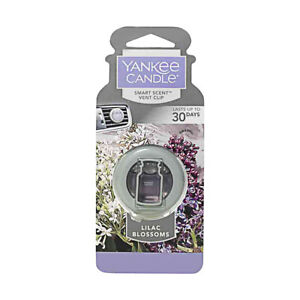Yankee Candles Car Freshener Smart-Scent Vent Clips, Lilac Blossoms