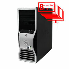 Dell Precision T5400 Multi 8-Monitor Computer PC 2x E5405/ 12GB/ 1TB/ Win10