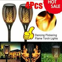 4 Packs Outdoor Solar Torch Dance Flickering Flame Light Garden Waterproof Lamp