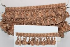 13  MT  Curtain Tassel Fringe Trim Upholstery  6 cm APRICOT/ CREAM  - PL-3618