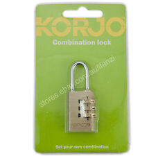KORJO Combination Luggage lock Gold CL30