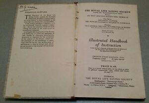VINTAGE BOOK.1946-50.ROYAL LIFE SAVING SOCIETY.ILLUSTRATED HANDBOOK.PROP.DISPLAY