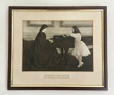 James Abbott McNeill Whistler Antique Photogravure Etching  'At The Piano.'