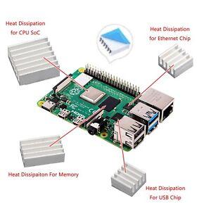 16 Heat Sink Cooling Dissipateur Radiateur Thermique Adhésif Pour Raspberry/Pi 4
