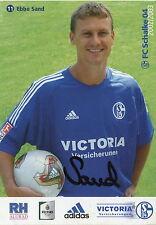 Fankarte 2002 2003 Ebbe Sand FC Schalke 04 Gelsenkirchen Fussball Bundesliga