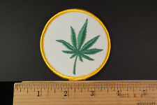 Weed Marijuana  Pot Hemp Leaf Embroidered Iron-On Patch 3""