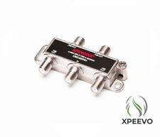 4-way Splitter Coax Cable TV/Modem/Satellite Digital & MOCA RG6 RG59