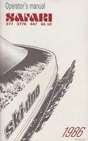 1986 SKI-DOO SNOWMOBILE SAFARI OPERATORS MANUAL P/N 414 5721 00 (503)