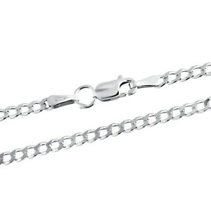 925 Sterling Silver Curb Chain Necklace 2.3 mm thick mens and womens