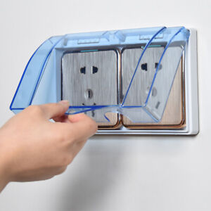 Wall Socket Waterproof Cover Outlet Case Self Adhesive For Bathroom Kitchen