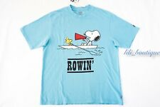 NWT New Levi's x Peanuts Men's Oversized Graphic Tee Cotton Rowing Snoopy Blue