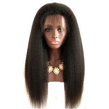 Feibin Lace Front Wigs For Black Women Yaki Straight Long 24inch 60cm Afro Heat