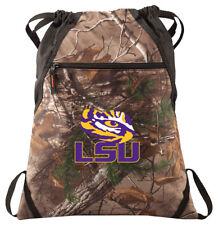 LSU Camo Cinch Pack REALTREE LSU Drawstring Bag Backpack A TOP LSU GIFT for MEN!