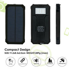IFITech 15000mAh Solar Charger Portable Solar Power Bank Dual USB Charger