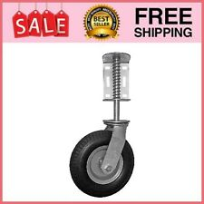 Heavy Duty Flat Free Spring Loaded Gate Caster With Universal Mount 8 Inch Wheel