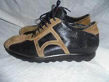 CAMPER Donna Nero/Browm Leather Casual Lace-Up Scarpe Misura UK 5 EU 38 in buonissima condizione
