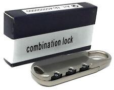 Cerradura de combinación de viaje en aleación de Zinc