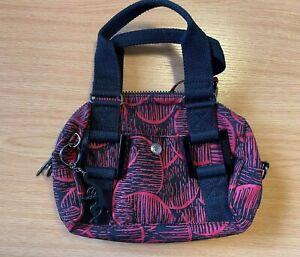 Kipling Pomello Mini Handbag Red and Black with keyring
