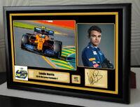"Lando Norris McLaren 2019 F1  Framed Canvas Signed Print ""Great Gift"" #2"
