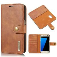 Luxury Flip Wallet Genuine Leather Case Cover For Samsung Galaxy S8 Plus S7 Edge