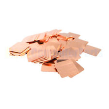 10pcs 20mm*20mm*1.5mm Heatsink Copper Shim Thermal For Sony Playstation PS3 GPU